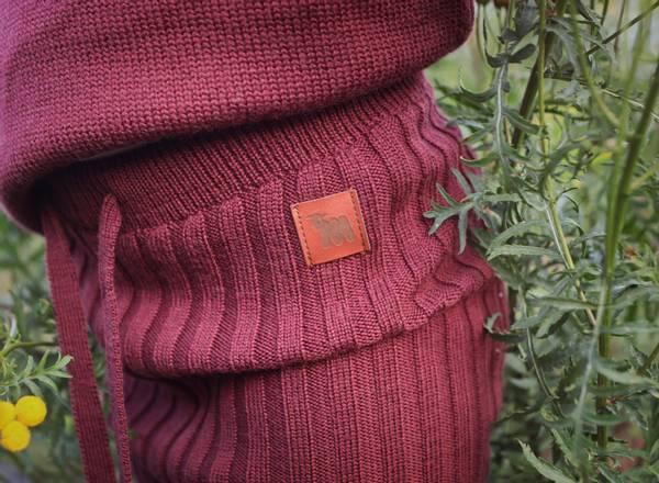 Bilde av Ribbebukse Kenty i merinoull, vinrød